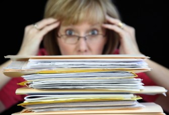Going Paperless means no more of THIS!
