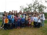 Le groupe Franco roumains et les enfants