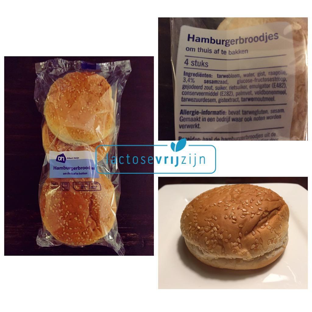 lactosevrij hamburgerbroodje