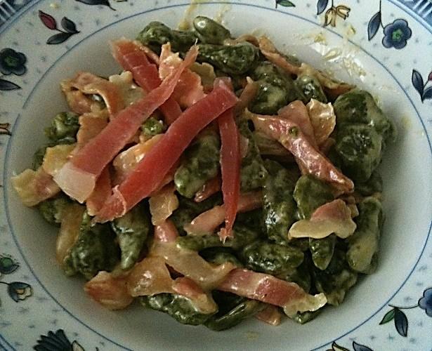 spaetzle agli spinaci