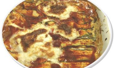 parmigiana, zucchine, mozzarella
