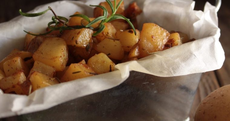Cubetti di patate alla paprika dolce