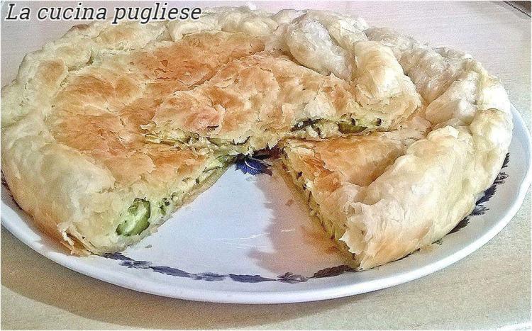 Torta salata con zucchine e stracchino - la cucina pugliese