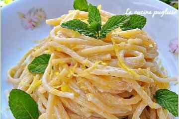 Spaghetti al limone - la cucina pugliese