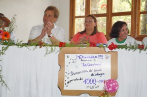 Norbert Feith y Lidiángeles Guatemala (Secretaria del Concejo Municipal) hija de Homero Guatela Co-Fundador de La Cuculmeca
