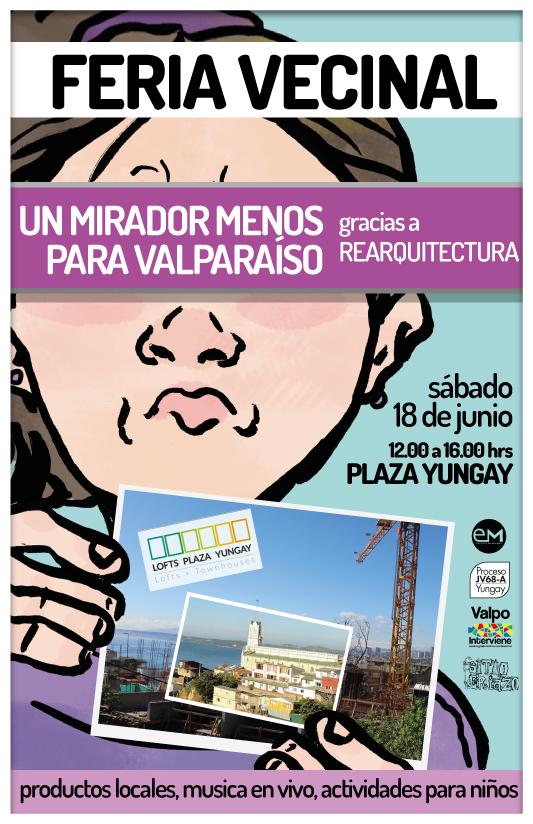 Invitan a recuperar la Plaza mirador de cerro Yungay