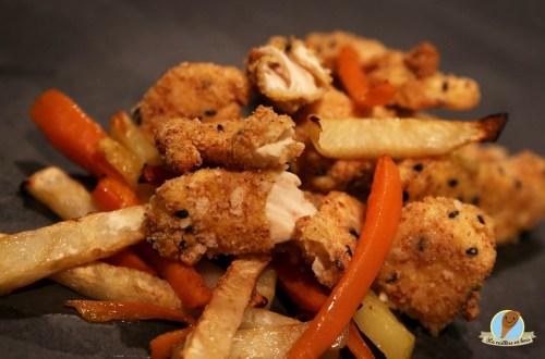 lacuillereenbois.fr-nuggets de poulet et frites de légumes pauvres en matière grasses...