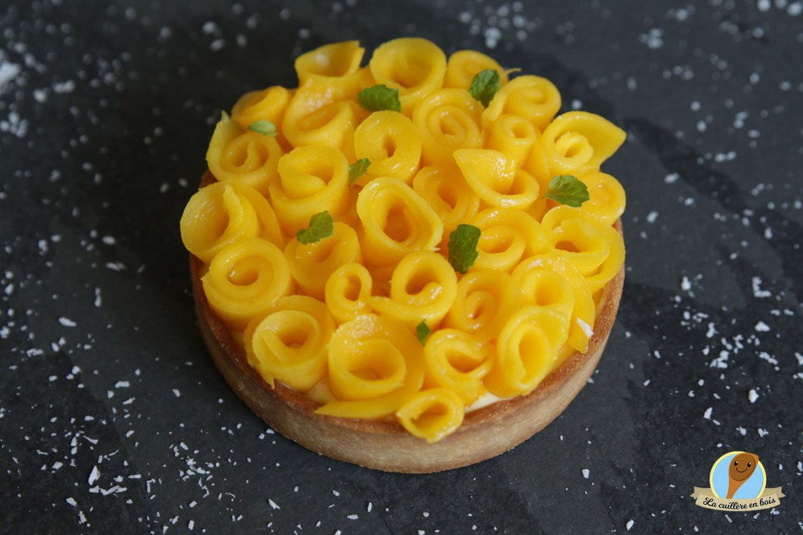 lacuillereenbois.fr - tarte fraicheur à la mangue