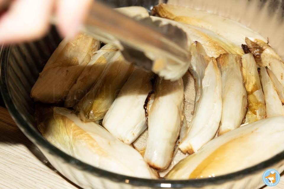 recette détaillée de succulente tarte tatin aux chicons, au miel, et au chèvre