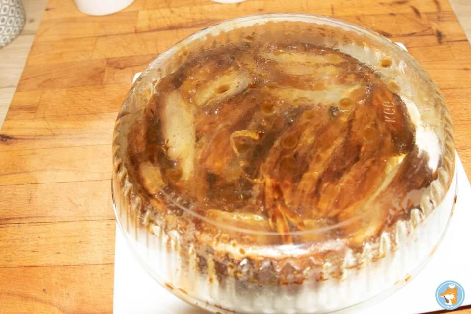 recette détaillée de succulente tarte tatin aux endives, au miel, et au chèvre