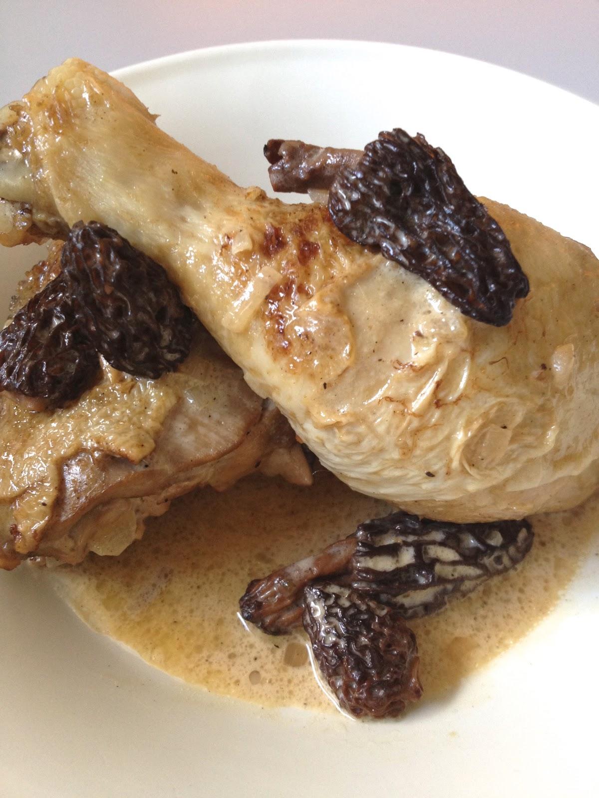 Poulet Au Vin Jaune Et Morilles : poulet, jaune, morilles, Simple, Comme, Poulet, Fermier, Morilles, Jaune, Cuisine, C'est