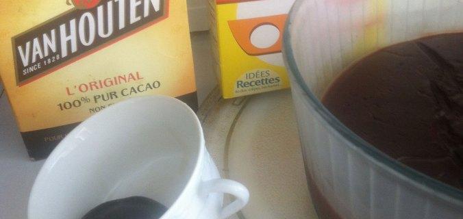 Crème cacao lait de soja et maïzena