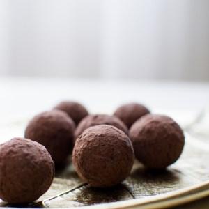 Pralinés de niébé au chocolat