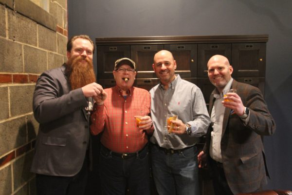 La Cultura Cigar and Social Preview - Second from left Michael Meade