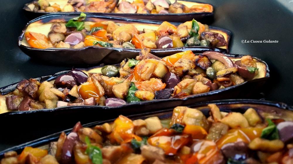 Melanzane a barchetta o a scarpone   Cucina napoletana