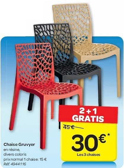 catalogue chaise gruvyer carrefour