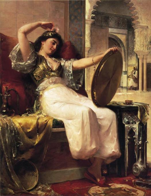 """""""Son costume semble sorti tout droit des tableaux orientalistes."""""""