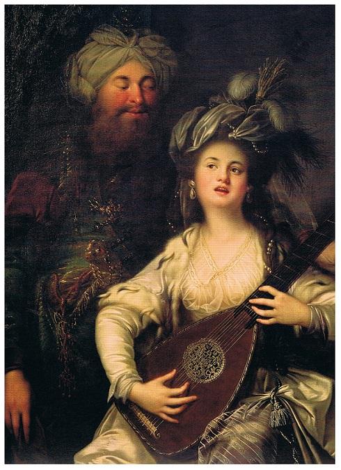"""Roxelane et le sultan - Anton Hickel"""