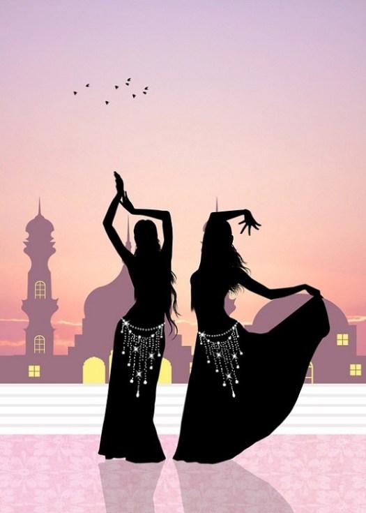 girl dancing belly dance