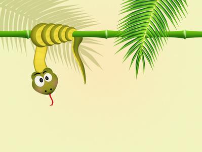 """Snake on bamboo"""