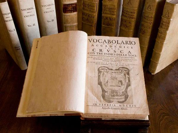 Vocabolario degli Accademici della Crusca Scheda Opera