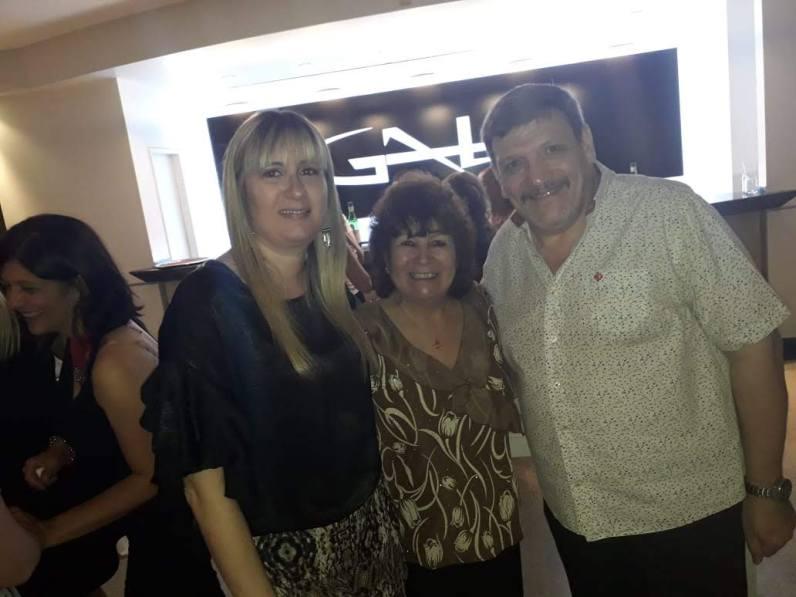Angelo con Mariela y Cristina