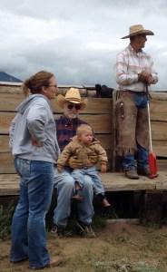 Family labor:  Georgia, Jim, Rhen and Jeff
