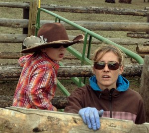 McCoy and Megan bringing up the cows