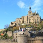 "Force of the floating island monastery、World Heritage site ""Mont St Michel"""
