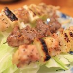 "Original yakitori grilled and ""Sparrow"" for keep the skewers and pour a cup of raw"
