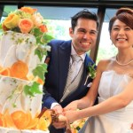 """A toast to see Nelson &Izumi wedding wedding reception in Amanda in lies""""2 people!"""
