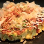 "Marc BIBEAU Okonomiyaki""Heaven in new food crunchiness! In the fluffy moist、Delicious cold cabbage!"
