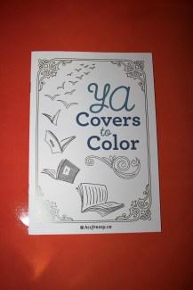 Livre coloriage de couverture de livre