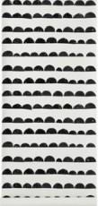Papier peint en rouleau noir et blanc Half Moon Ferm Living 2
