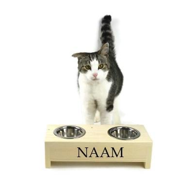 Katten voerbak 10 cm hoog 35 cm breed