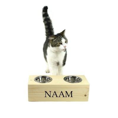 Katten voerbak, 11 cm hoog 35 cm breed