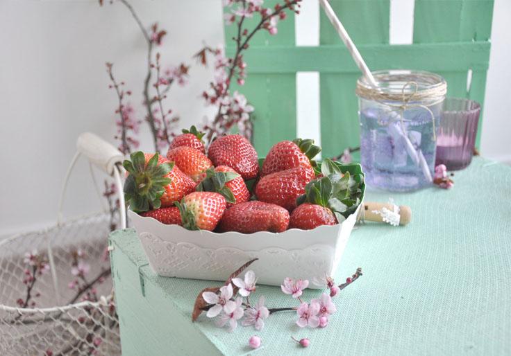 fraise, picnic intérieur, pastel décors