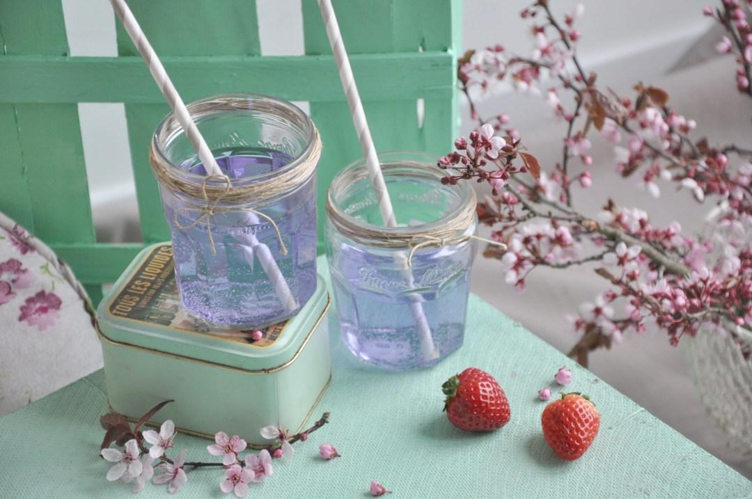 Pique nique pastel, sirop et fleur