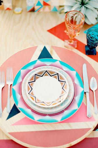 mexicain décors , assiette, table motif mexicain