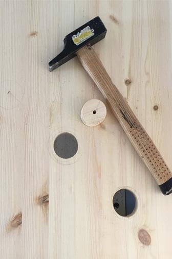 Ouverture scie cloche DIY