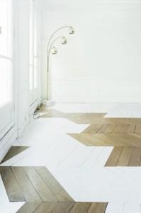 parquet geometrique peint