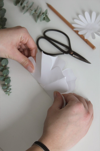 pliage fleur DIY