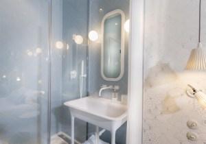 salle de bain - lapin blanc hotel