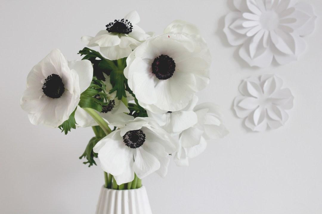 des fleurs en papier DIY