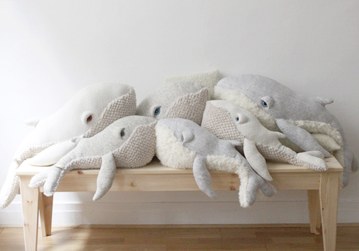 Famille baleine Big stuffed