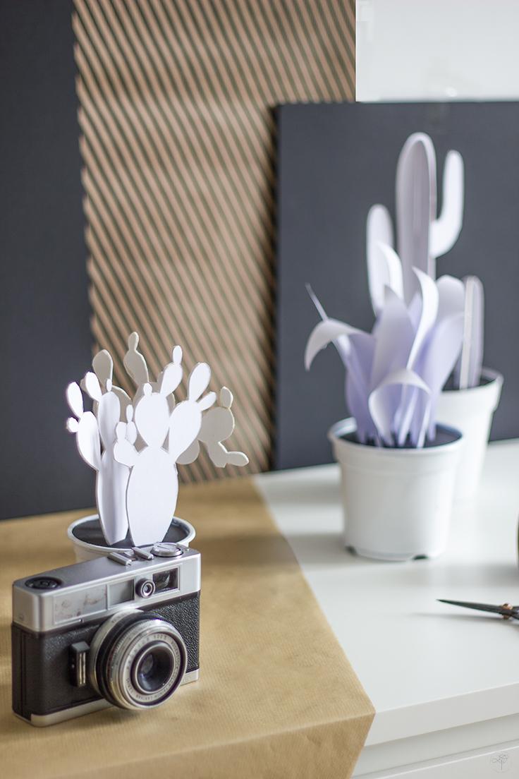 realisation cactus en papier