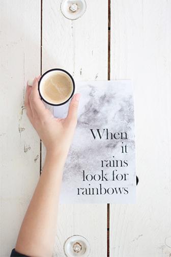 mantra à imprimer sur la pluie
