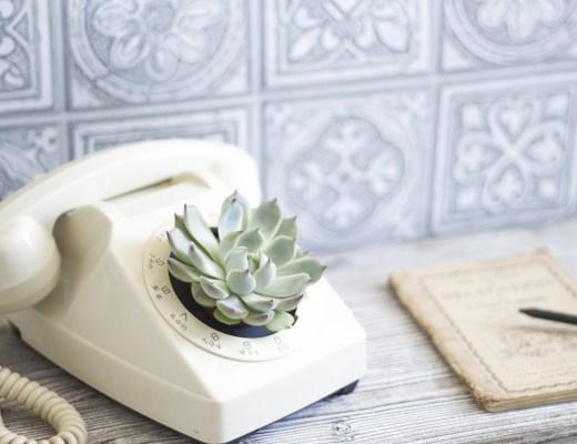 DIY la délicate parenthèse création telephone vintage