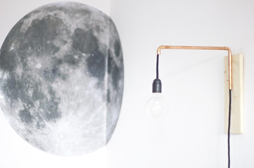 la délicate parenthèse création DIY lampe articulée cuivrée