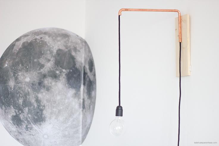 la délicate parenthèse création Do it yourself lampe cuivrée